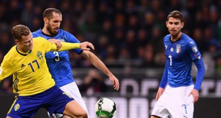 السويد تحقق المفاجأة وترسل إيطاليا خارج المونديال