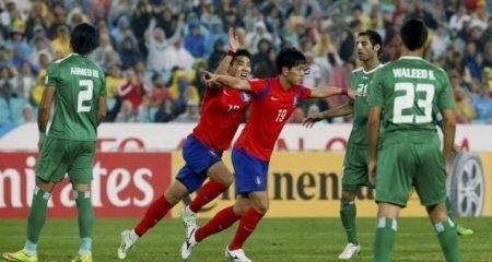كوريا الجنوبية تحجز مقعداً في نهائي كأس أسيا بفوزها على العراق .