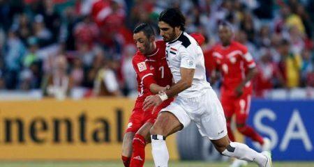 العراق تهزم فلسطين وتتأهل الى الدور المقبل من كأس أسيا .