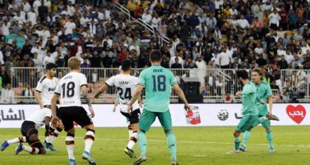 ريال مدريد يكتسح فالنسيا ويتأهل الى نهائي السوبر الإسباني
