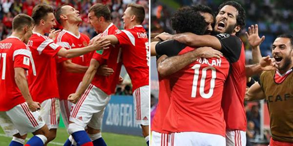 توقيت مباراة مصر وروسيا والمعلقين والقنوات الناقلة