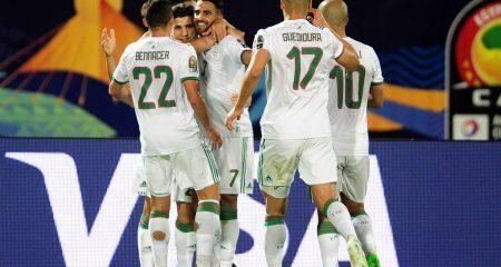 الجزائر أول العرب المتأهلين لربع نهائي أمم إفريقيا