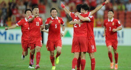 المنتخب السعودي يلعب والصين تفوز في كأس أسيا .
