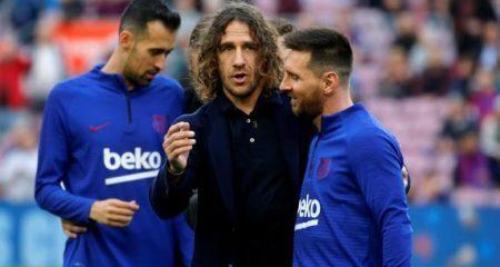 تشافي بويول وايتو يوجهون تحية للاعبي برشلونة